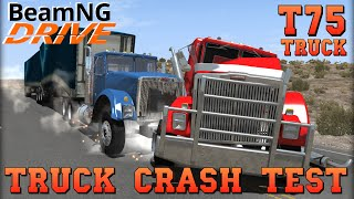 BeamNG DRIVE Crash Test Trucks T75 Trailer Mod