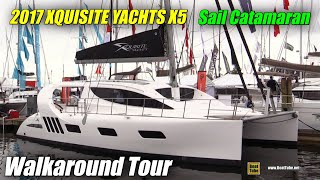 2017 Xquisite Yachts X5 Sail Catamaran - Deck and Interior Walkaround - 2016 Annapolis Sailboat Show