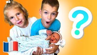 Histoire pour les enfants - Five Kids font semblant de jouer au baby-sitting