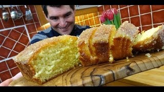 Lemon Drizzle Cake: Light, Crunchy, Tangy, Simple & Very Moreish.
