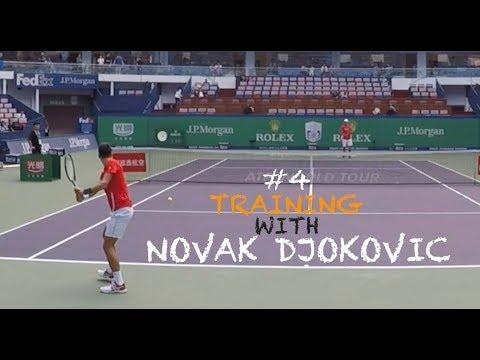 Fourth Training With Novak Djokovic - Part 1 | Rolex Shanghai Masters 2018 (TENFITMEN)