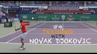 Fourth Training With Novak Djokovic - Part 1   Rolex Shanghai Masters 2018 (TENFITMEN)