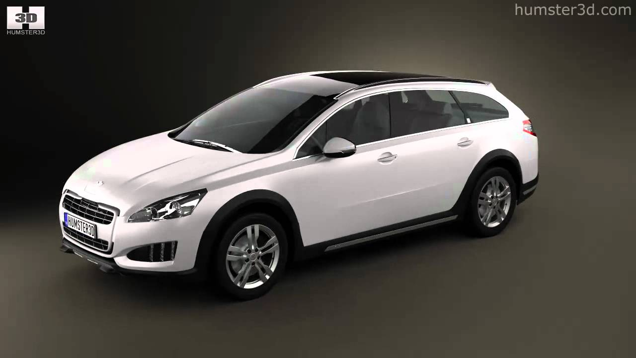 peugeot 508 rxh 2013 by 3d model store youtube. Black Bedroom Furniture Sets. Home Design Ideas
