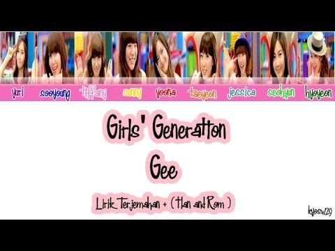 Girls' Generation SNSD 소녀시대   Gee Lirik Bahasa Indonesia