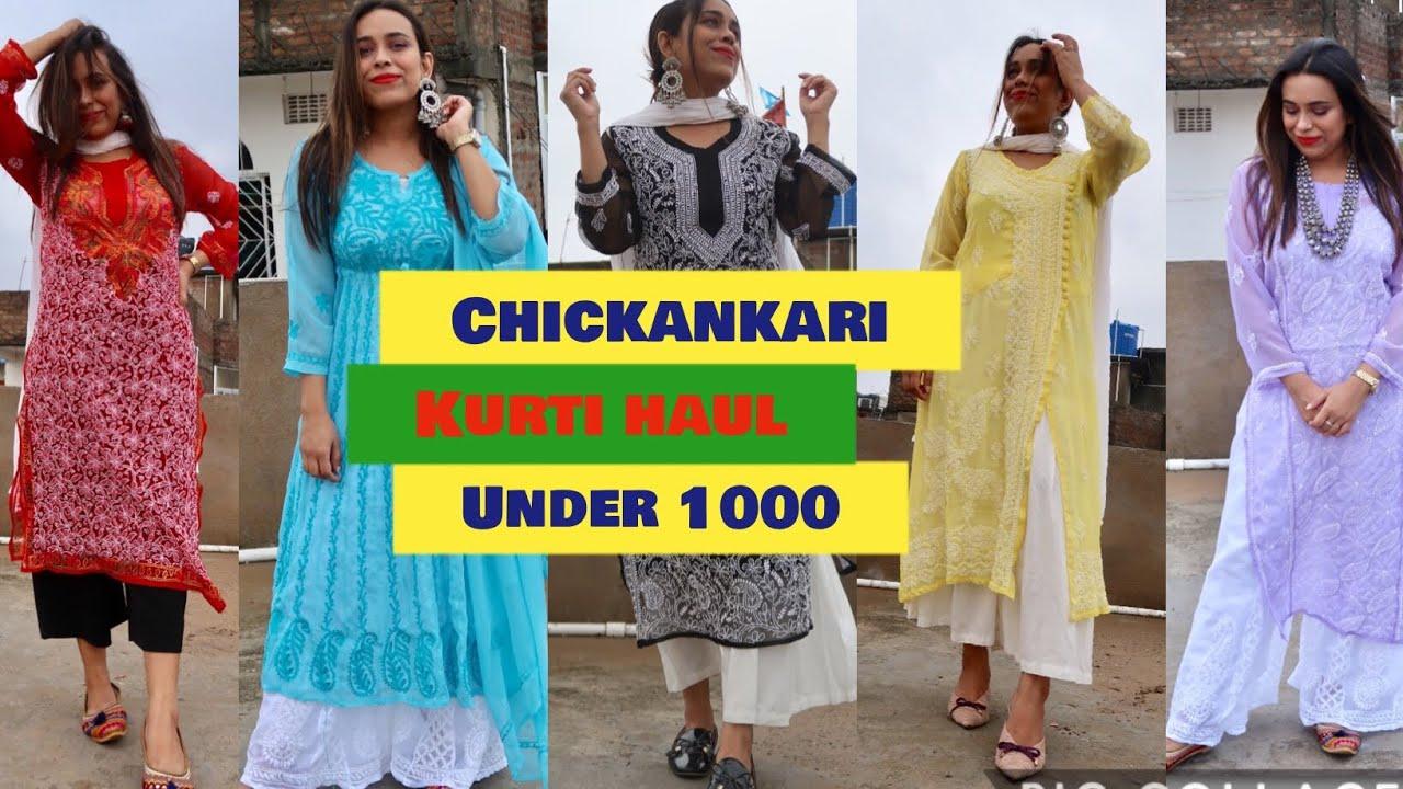 Lucknow Chikankari Kurti Haul| How to style Chikankari Kurti || lookbook 2020 |