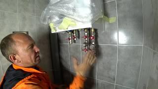 Установка двух контурного котла ,или отопление частного дома 150 кв все этапы робот ))Часть 1