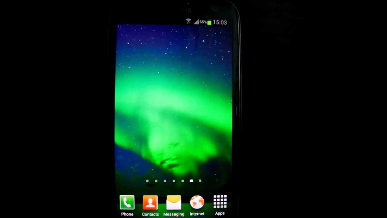 Aurora Borealis Live Wallpaper HD - YouTube