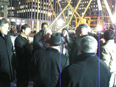 Michael Bloomberg Mayor of New York City - arriving at World