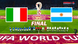 Italy vs Argentina Final FIFA World Cup 2022 Full Match All Goals PES 2021 eFootball Gameplay