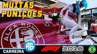 F1 2018 #20 GP DO BRASIL - QUASE TODO O GRID FOI PUNIDO! (Português-BR) 1080 60