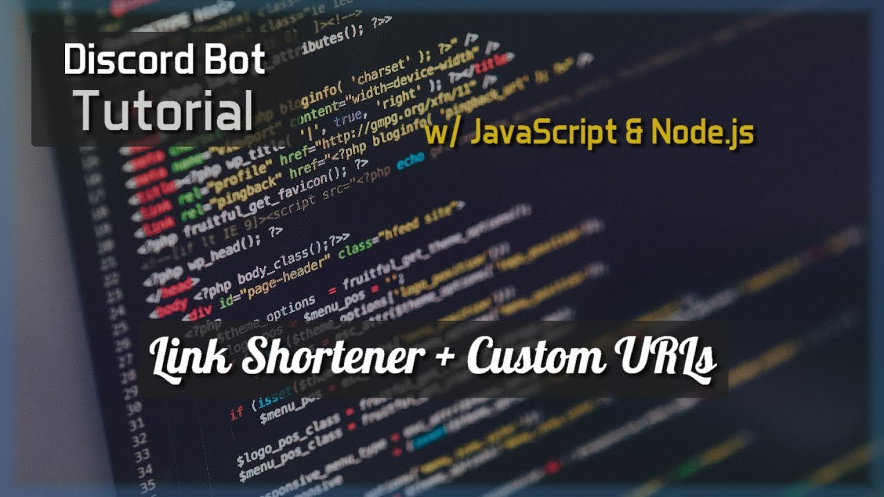 Discord Bot Tutorial Essentials: Link Shortener + Custom URLs