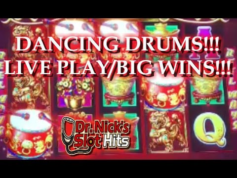 Live Play Big Wins Dancing Drums Slot Machine