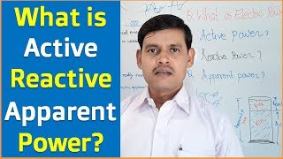 Electric Power | Active Power | Reactive Power and Apparent Power in Hindi