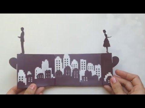 Long Distance Love Story Pop Up Card Tutorial Valentines Day
