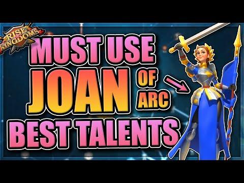 Best Joan of Arc Talents + Guide in Rise of Kingdoms
