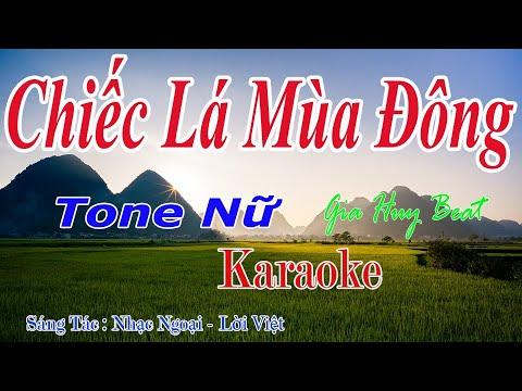 Chiếc Lá Mùa Đông – Karaoke – Tone Nữ – Nhạc Sống – gia huy beat