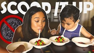 🍪 FACE THE COOKIE CHALLENGE FAIL + SCOOP IT UP CHALLENGE // FAMILY GAMES