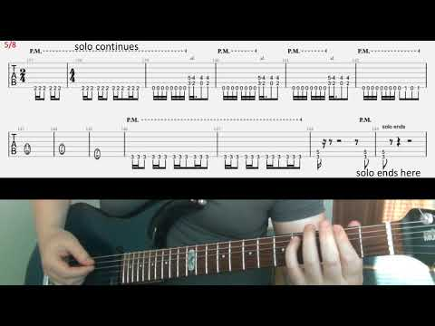 Metallica Dyers Eve part 2 tab guitar lesson solo backing riffs and ending