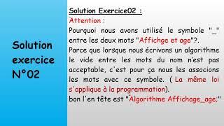 #cours03 Algorithme