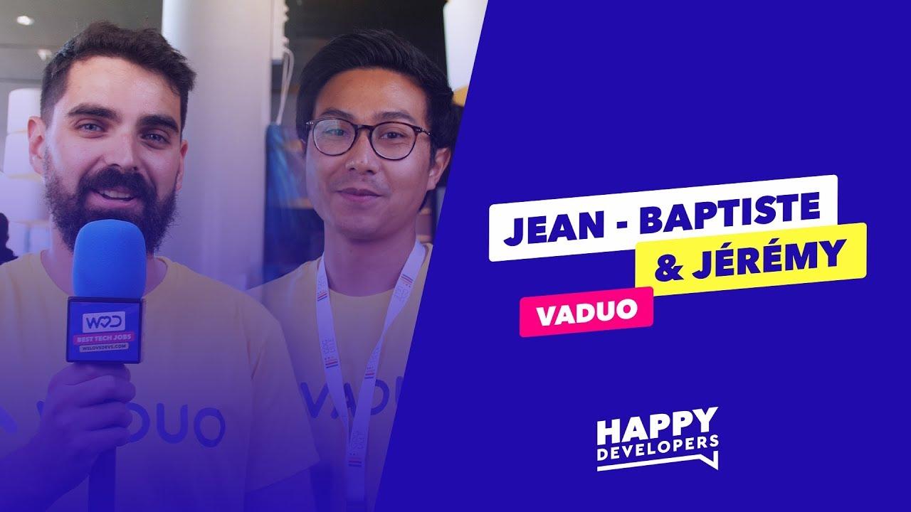 Happy Developers - DevFest Lille - Jean-Baptiste et Jérémy de Vaduo