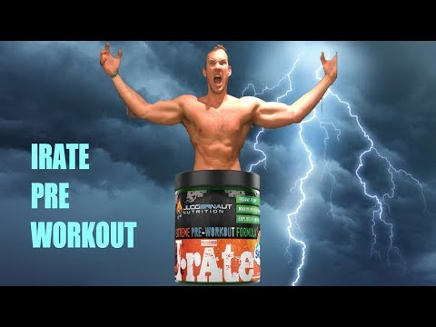 IRATE - Juggernaut Nutrition Pre Workout Review (AMAZING PRODUCT!!)