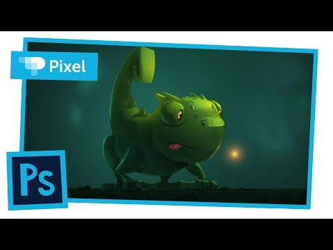 Рисуем хамелеона в Adobe Photoshop | уроки для новичков