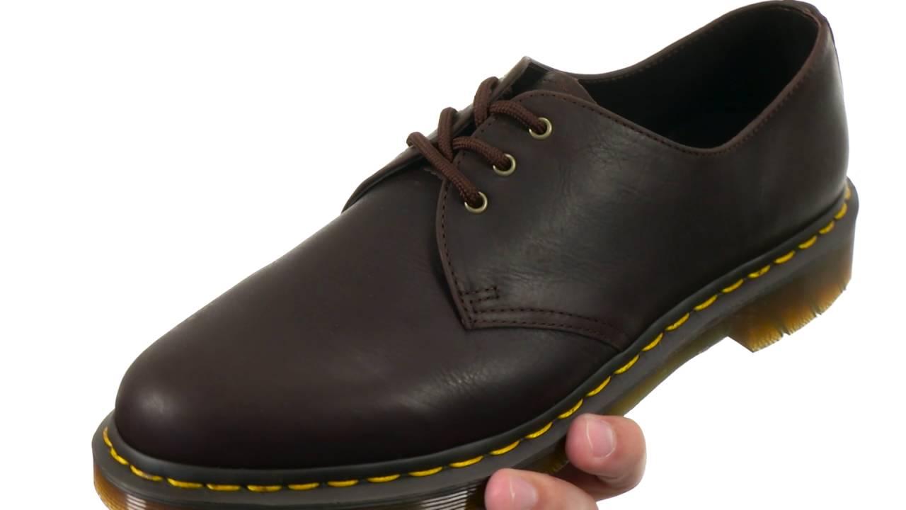 a8cef943e5 Dr. Martens 1461 3-Eye Shoe Soft Leather SKU:8650202 - YouTube