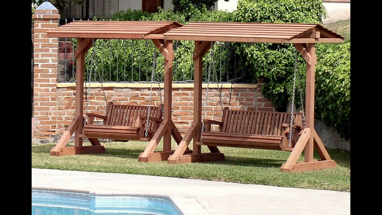 & Garden Swing Bench | Garden Swing Bench Plans - YouTube