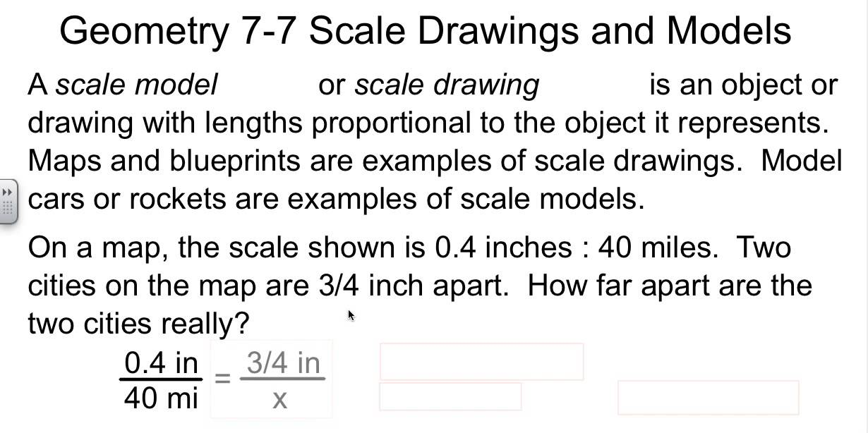 Geometry 7-7 Scale Drawings and Models - YouTube