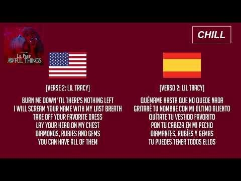 Lil Peep - Awful Things ft. Lil Tracy (Lyrics/Subtitulado al Español)