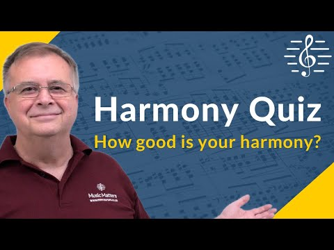 Harmony Quiz - Test Your Knowledge!