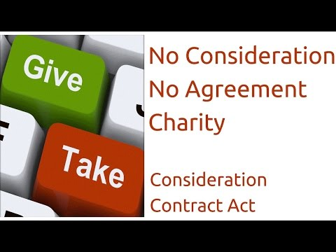 Charity For  No Consideration No Agreement | Consideration| Indian Contract Act Law | CA CPT | CS