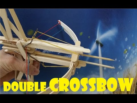 Generation 4 - How To Make A Double Crossbow That Looks Strange - Mini Popsicle Bow