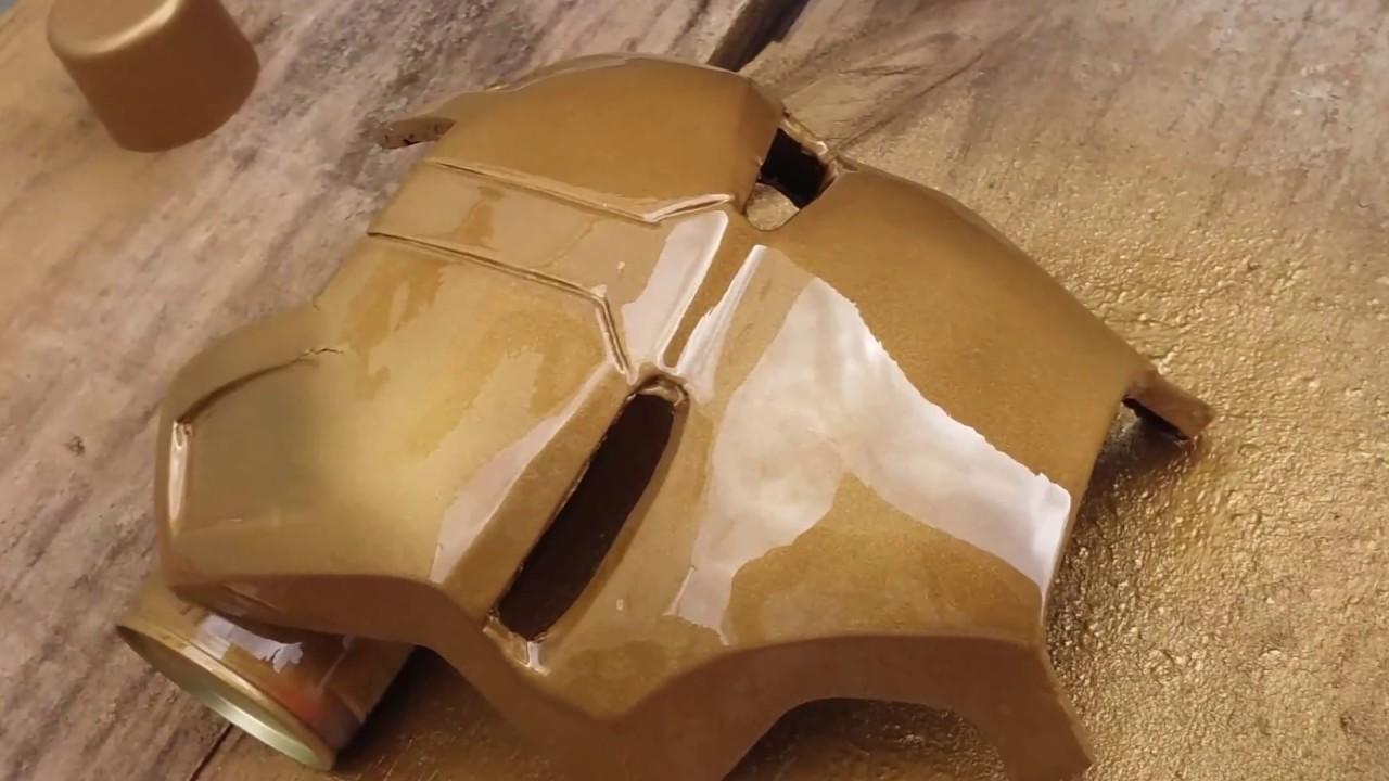 Helmet Iron Man Mascara Homem De Ferro Pepakura Mk42 Youtube