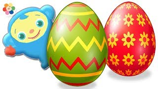 Aprende los Colores con Peekaboo y Huevos Decorados | BabyFirst Español