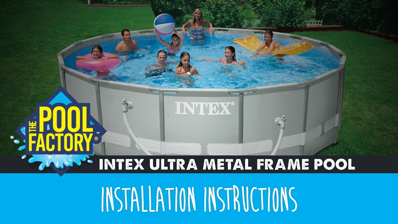 Intex Ultra Metal Frame Pool Instructions Youtube