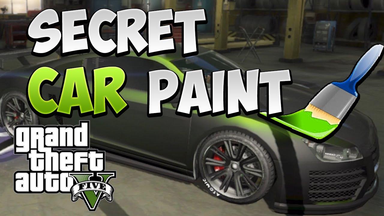 """Pearlescent Car Paint >> GTA 5 Online """"Secret Car Paint"""" How To Get Secret/Hidden ..."""