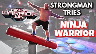 Strongman Tries Ninja Warrior | Ft Eddie Hall