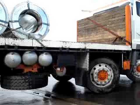 Fuso Truck Loaded With Steel Coils