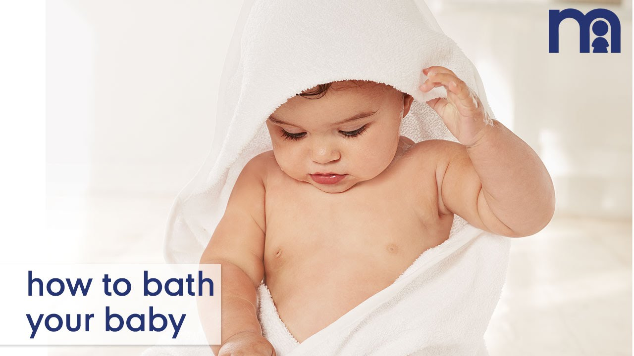 how to bath your baby mothercare baby advice youtube. Black Bedroom Furniture Sets. Home Design Ideas