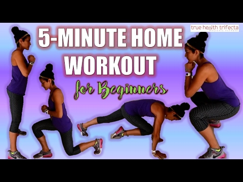5 Minute Home Workout for Beginners – BODYWEIGHT TRAINING / FAT LOSS / LOW IMPACT