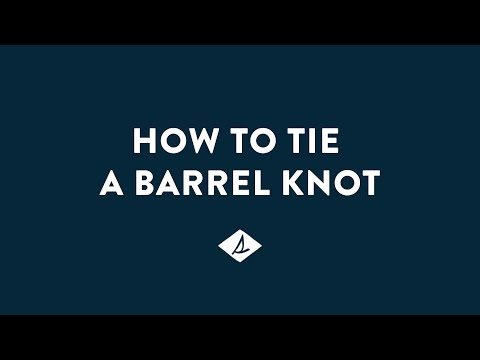How To Tie A Sperry Barrel Knot
