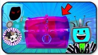 Giant Purple Mythical Chest + Dominus Frigidus Pet + 7 Pets Equipped In Roblox Pet Simulator