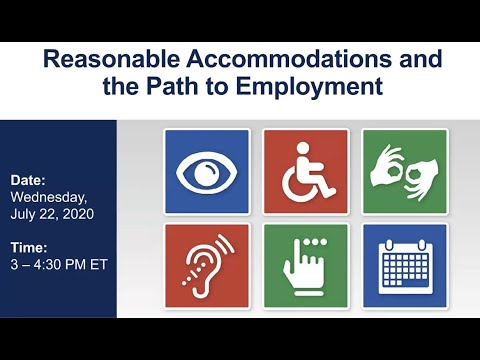 WISE Webinar 2020-07: Reasonable Accommodations And The Path To Employment