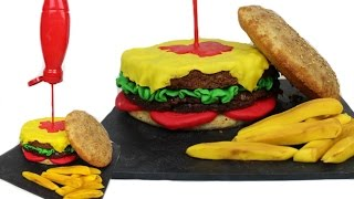 How To Make A Hamburger Cake: Tutorial | Marcos Soler