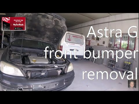 OPEL ASTRA G  1998-2004   Front Bumper Removal