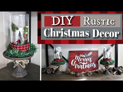 DIY Rustic Christmas Decor 2018 | Dollar Tree Cozy Christmas Decor | KraftsbyKatelyn