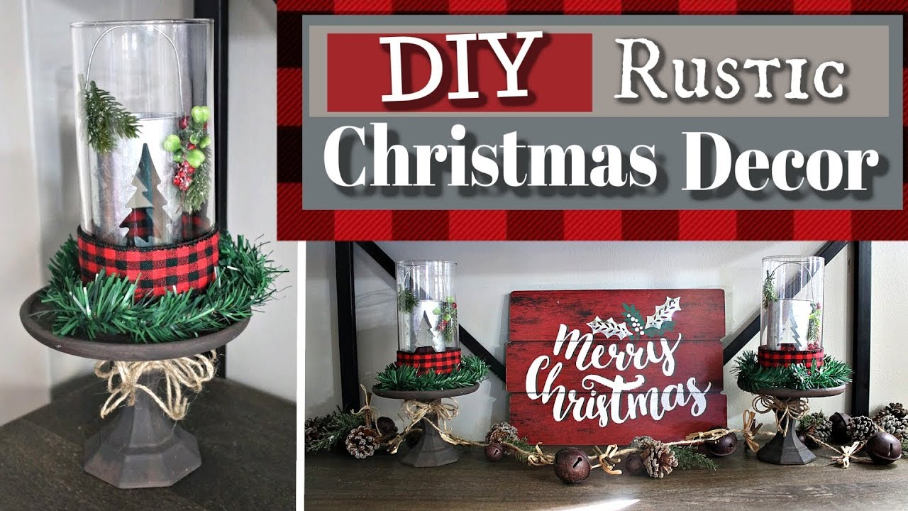 diy rustic christmas decor 2018 dollar tree cozy christmas decor kraftsbykatelyn youtube. Black Bedroom Furniture Sets. Home Design Ideas