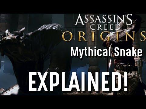 Giant Mythical Snake EXPLAINED! Assassin's Creed Origins