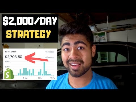 How I'm Doing $2,000/DAY With Shopify Dropshipping | FULL Strategy Revealed thumbnail